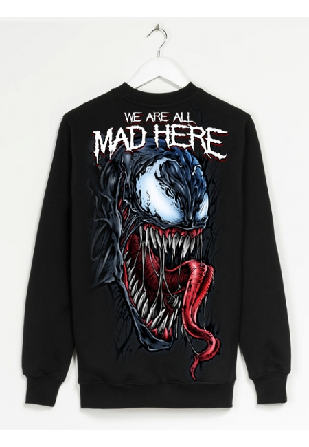 "Bluza ""We're all mad here"" - Black - Męska"