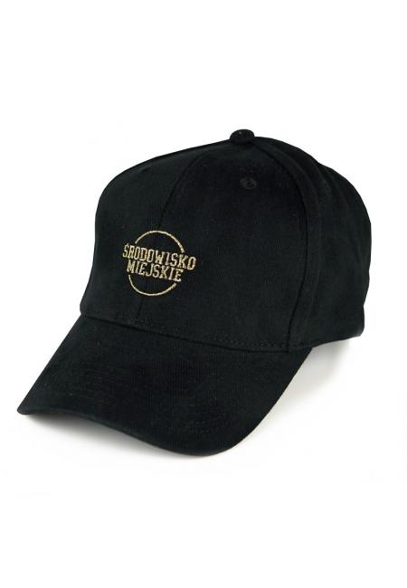 """Cap """"Classic"""" 6panels - Black/Gold  Środowisko Miejskie CAPS"""