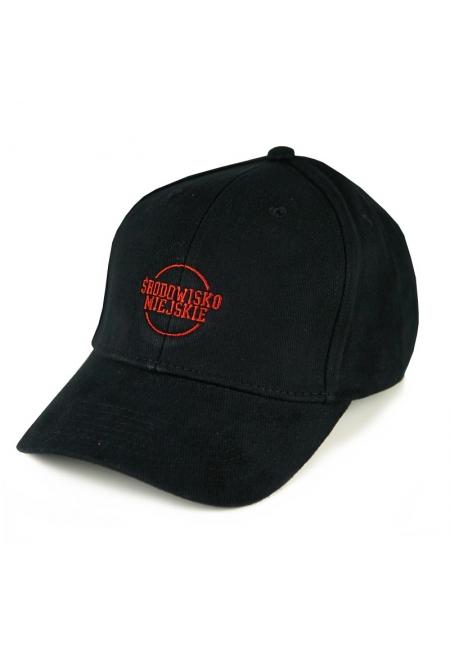 """Cap """"Classic"""" 6panels - Black/Red  Środowisko Miejskie CAPS"""
