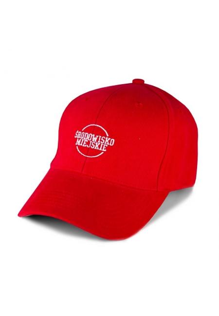"""Czapka """"Classic"""" 6panels - Red/White  Środowisko Miejskie CAPS"""