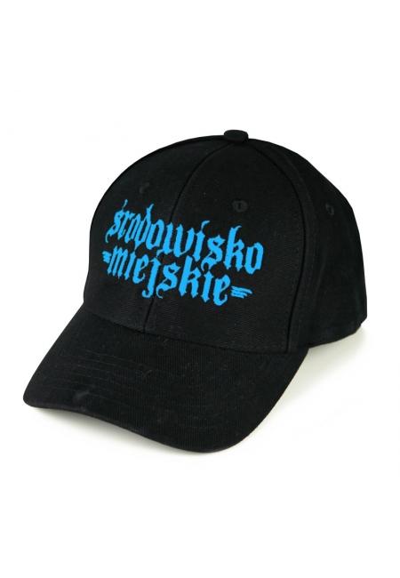 """Cap """"Gotyk"""" 6panels - Black/Blue  Środowisko Miejskie CAPS"""