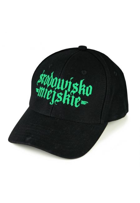 """Cap """"Gotyk"""" 6panels - Black/Mint  Środowisko Miejskie CAPS"""