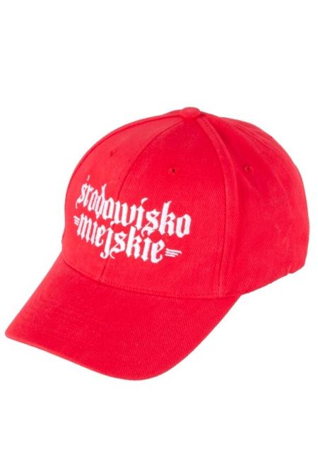 """Cap""""Gotyk"""" 6panels - Red/White  Środowisko Miejskie CAPS"""