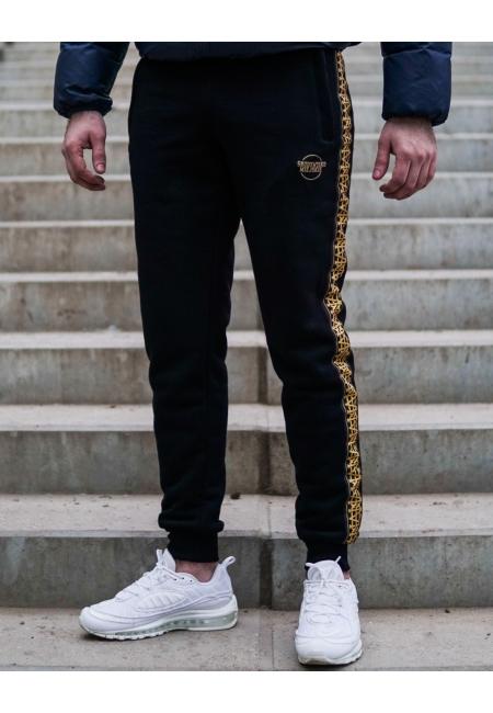 """Spodnie dresowe """"Lampas"""" Black/Gold"""